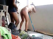 Sexo amateur en el balcón con una pareja mexicana